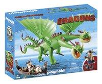 PLAYMOBIL Dragons 9458 Kognedur et Kranedur avec Pète et Prout-Côté gauche