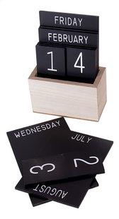 Houten kalender zwart-Artikeldetail