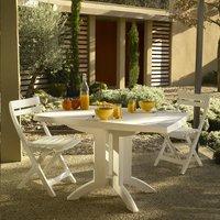 Grosfillex table de jardin Vega 118 blanc 120 x 80 cm