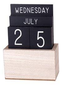Houten kalender zwart-commercieel beeld