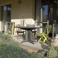 Grosfillex table de jardin Vega 118 anthracite 120 x 80 cm