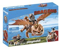 PLAYMOBIL Dragons 9460 Viztik & Vleeskop-Linkerzijde