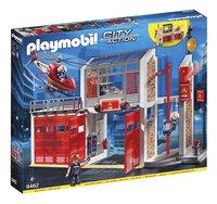 PLAYMOBIL City Action 9462 Caserne de pompiers avec hélicoptère-Côté gauche