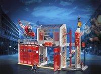 PLAYMOBIL City Action 9462 Caserne de pompiers avec hélicoptère-Image 1
