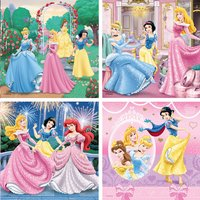 Ravensburger 4-in-1 meegroeipuzzel Disney princess-Vooraanzicht