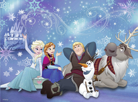 Ravensburger XXL puzzel Disney Frozen Ijsmagie-Vooraanzicht