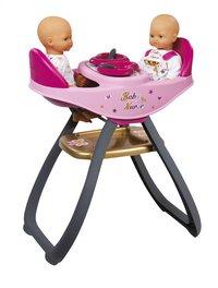 Smoby Chaise haute jumeaux 2 en 1 pour poupées Baby Nurse