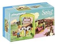 PLAYMOBIL Spirit 9480 Abigail & Boomerang met paardenbox-Linkerzijde