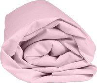 Home lineN Drap-housse Bicolore rose flanelle 160 x 200 cm-Détail de l'article