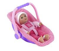 Dolls World zachte pop Isabella met draagstoeltje-commercieel beeld