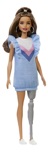 Barbie mannequinpop Fashionistas 121 - Blue Ruffle Dress-Vooraanzicht