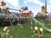 BnB Wood schommel met speeltoren Fireman met appelgroene glijbaan-Afbeelding 4