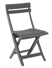 Grosfillex chaise pliante Miami gris-Avant