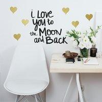Muursticker RoomMates Love you to the Moon-commercieel beeld