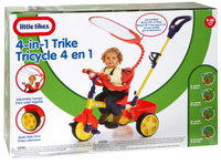 Little Tikes tricycle 4 en 1 bleu/jaune/rouge-Avant