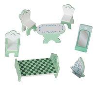 Maison de poupées en bois château de glace-Détail de l'article