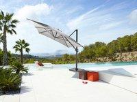 Ocean hangparasol Sevilla aluminium 3 x 3 m Carbongrijs-Afbeelding 1