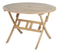 Table de jardin acacia Ø 110 cm-Côté droit