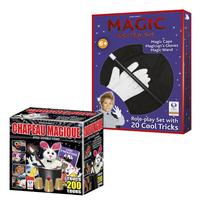 Hanky Panky magische goochelhoed + Goochelverkleedset MAGIC-Vooraanzicht