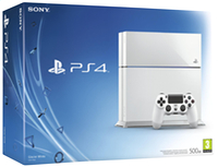 PS4 console 500 Go blanc