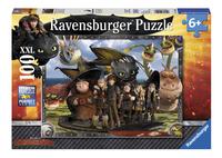 Ravensburger puzzle XXL Dragons Krokmou et ses amis-Avant