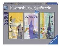 Ravensburger Puzzel 3-in-1 Reis om de wereld-Vooraanzicht