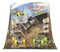 Trixx 360° acrobatische auto's Stuntcars wit/groen/zwart - 3 stuks-Vooraanzicht