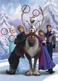 Ravensburger puzzel Disney Frozen Zoek de verschillen-Vooraanzicht