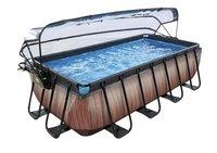 EXIT zwembad Wood met overkapping 4 x 2 m-commercieel beeld