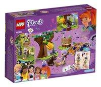 LEGO Friends 41363 Mia's avontuur in het bos-Achteraanzicht