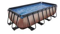 EXIT zwembad Wood 4 x 2 m-Rechterzijde