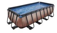 EXIT zwembad Wood met zandfilter 4 x 2 m-Rechterzijde