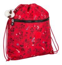 Kipling sac de gymnastique Supertaboo Mickey Sketch Red-Côté gauche