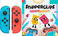 Nintendo Switch Joy-con pair rood/blauw + Snipperclips NL/FR