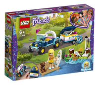 LEGO Friends 41364 Stephanie's buggy en aanhanger-Linkerzijde