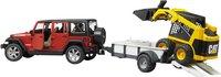 Bruder jeep Wrangler + aanhangwagen en graafmachine-Artikeldetail