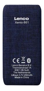 Lenco lecteur MP4 Xemio-861 BT 8 Go bleu-Arrière