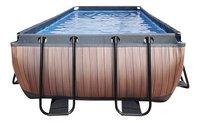 EXIT zwembad Wood met overkapping 4 x 2 m-Vooraanzicht