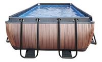 EXIT zwembad Wood met zandfilter 4 x 2 m-Vooraanzicht