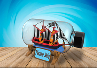 The Impossible Bottle - Piratenboot-Afbeelding 1