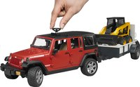 Bruder jeep Wrangler + aanhangwagen en graafmachine-Afbeelding 2
