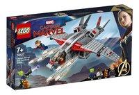LEGO Super Heroes 76127 Captain Marvel De aanval van de Skrulls-Linkerzijde
