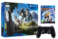 PS4 console 1 To +  Horizon Zero Dawn + Ratchet & Clank + manette DualShock 4