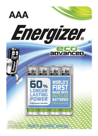 Energizer 4 piles AAA Eco Advanced