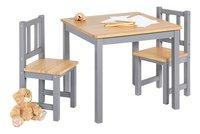 Pinolino table avec 2 chaises pour enfants Fenna gris-Avant