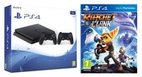 PS4 Slim console 1TB + Ratchet & Clank + controller DualShock 4