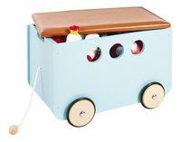 Pinolino coffre à jouets sur roulettes Jim menthe-Avant