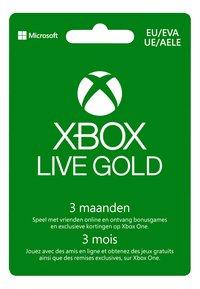 Gift Card Xbox Live Gold - lidmaatschap 3 maanden-Vooraanzicht