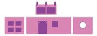 Rideau de jeu Pino rose/lilas