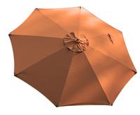 FSC-luxehoutmastparasol diameter 3,5 m terracotta-Vooraanzicht